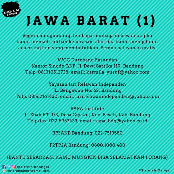 Kontak lapor KDRT Jawa Barat 1